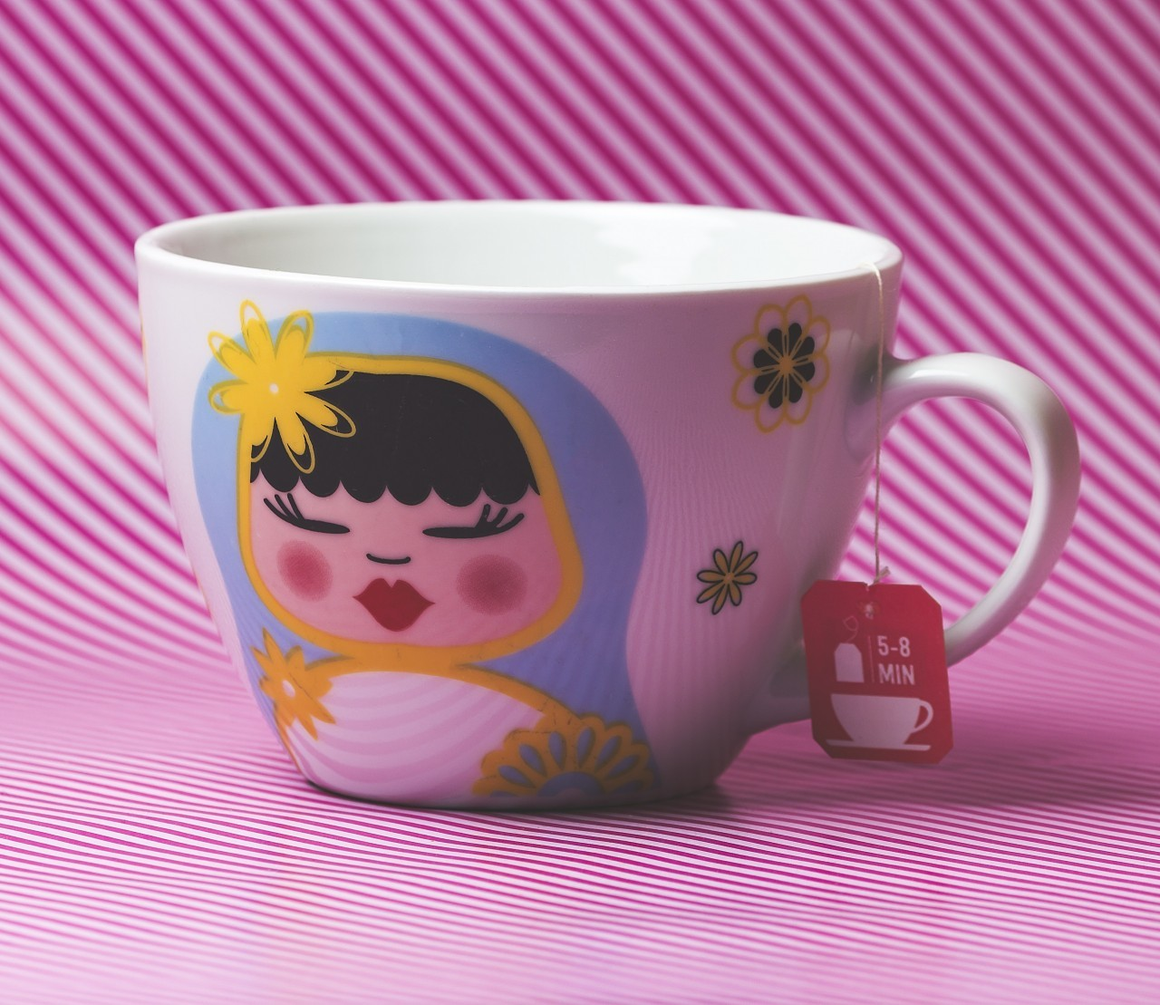 colorful cup of tea