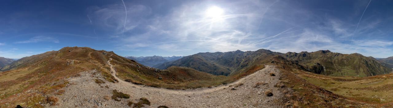 Landscape panorama of the Austrian Alps