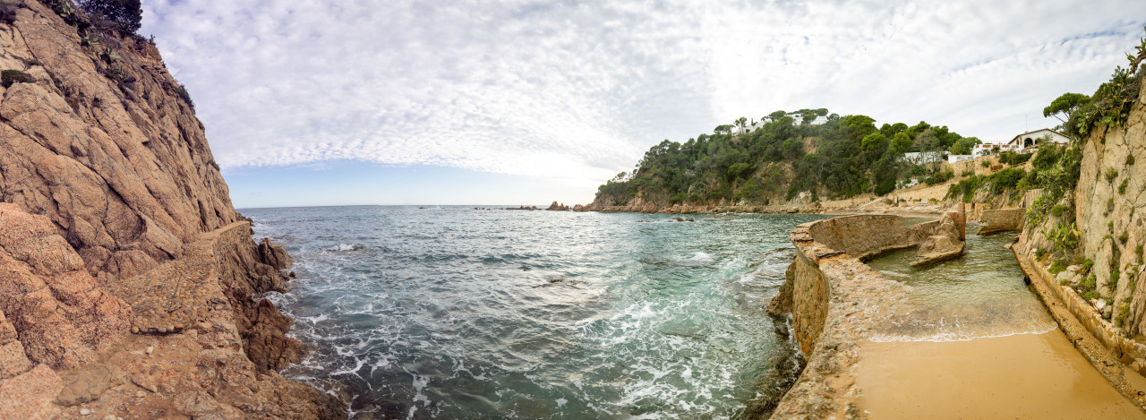View from the Balearic Sea to Canyet de Mar