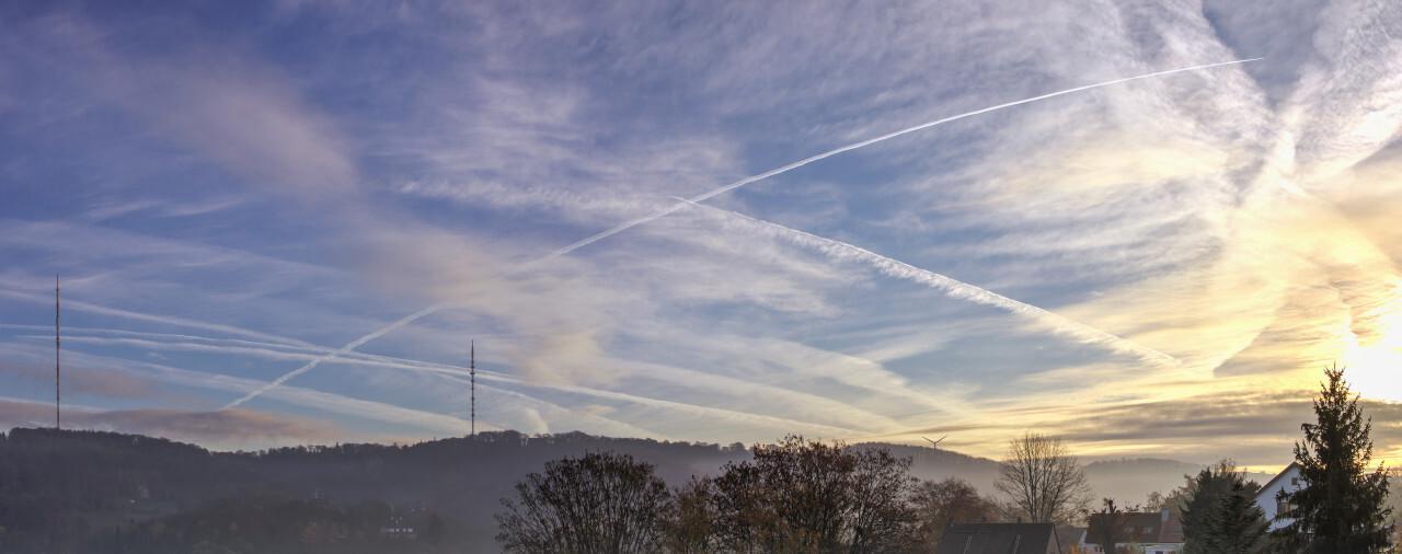 Velbert Langenberg in Germany shrouded in the morning mist