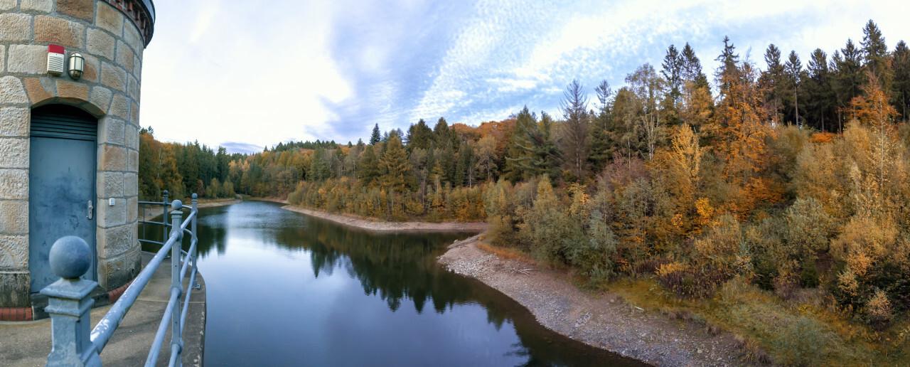 Wuppertal, Ronsdorf Talsperre, Autumn Lake Landscape