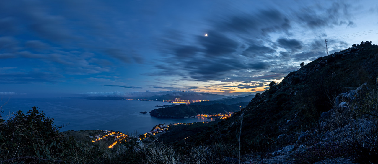 Cap Marcer Seascape in France at night