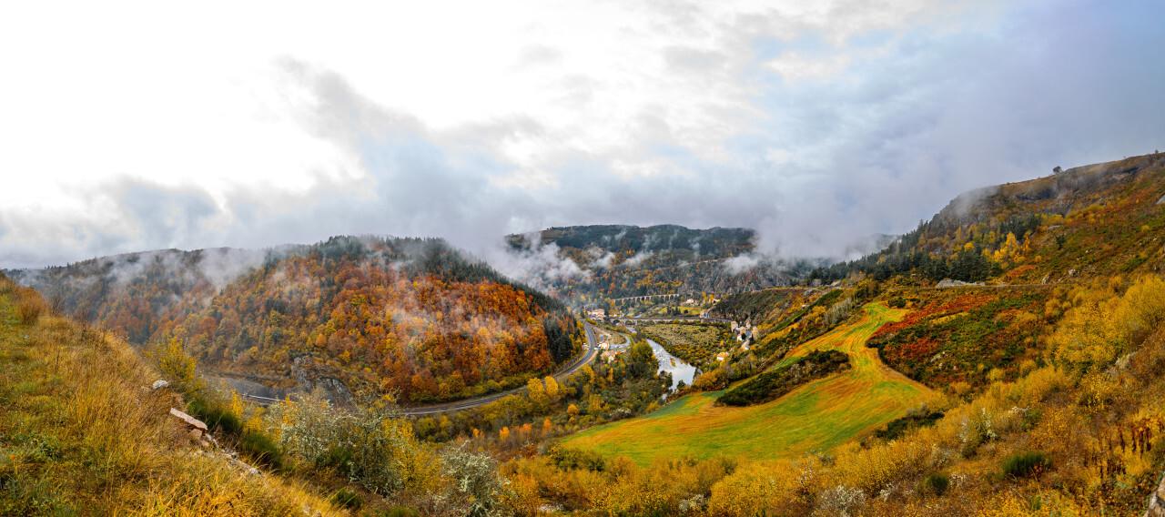 Le Nouveau Monde Saint-Haon in france panorama landscape