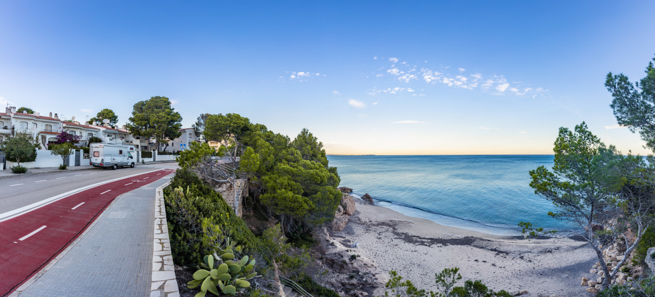 Road Miami Platja Tarragona Spain Seascape