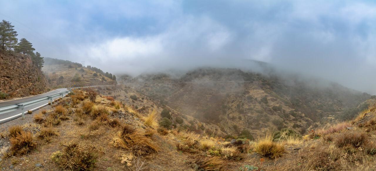 bayarcal andalucia spain mountains road landscape panorama