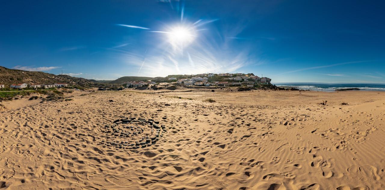 Praia de Monte Clerigo Aljezur Faro Portugal Beach Landscape