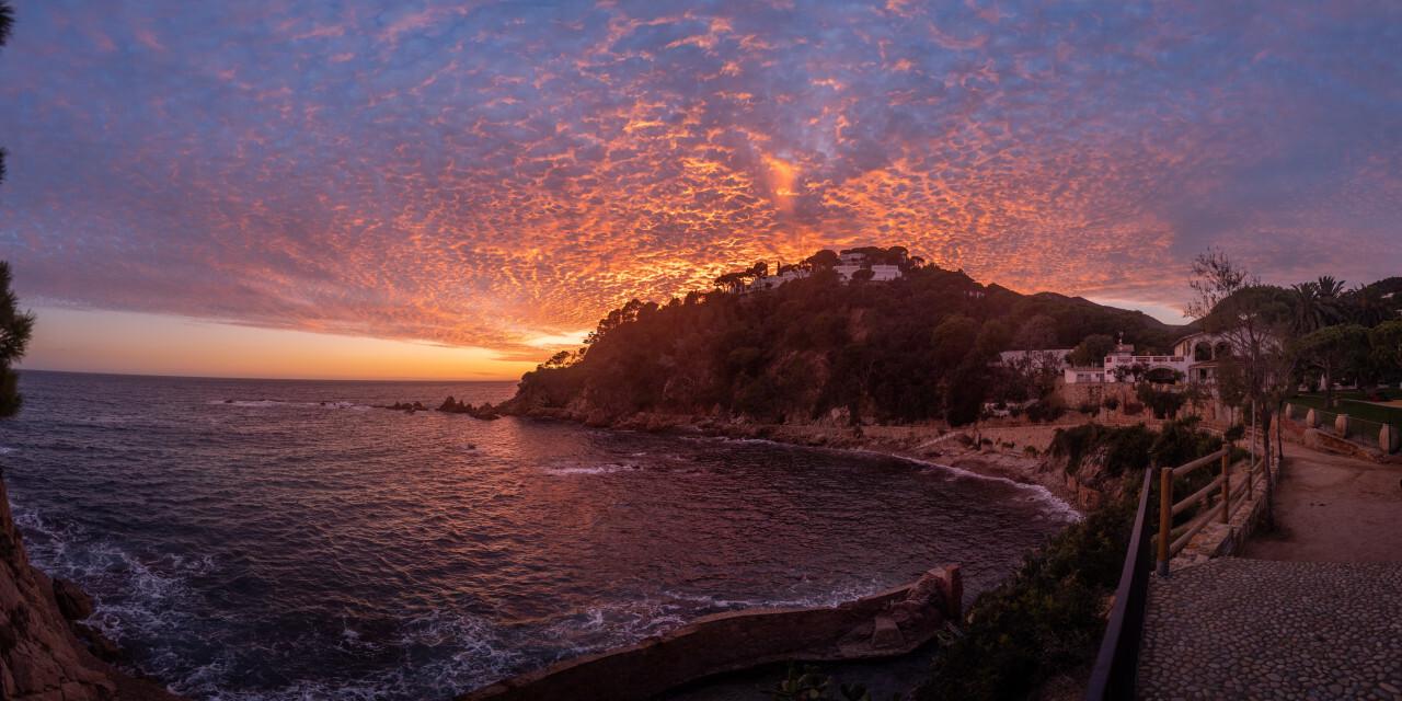 Sunset over Canyet de Mar