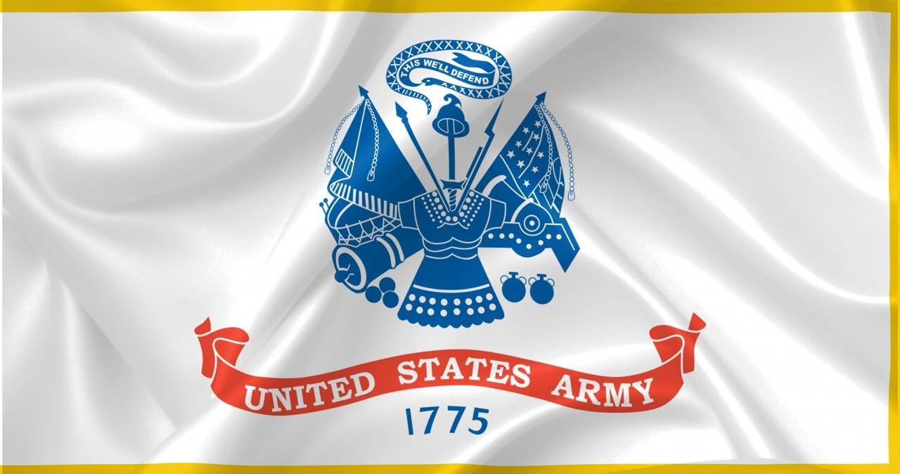 United States Army Field Flag White Illustration