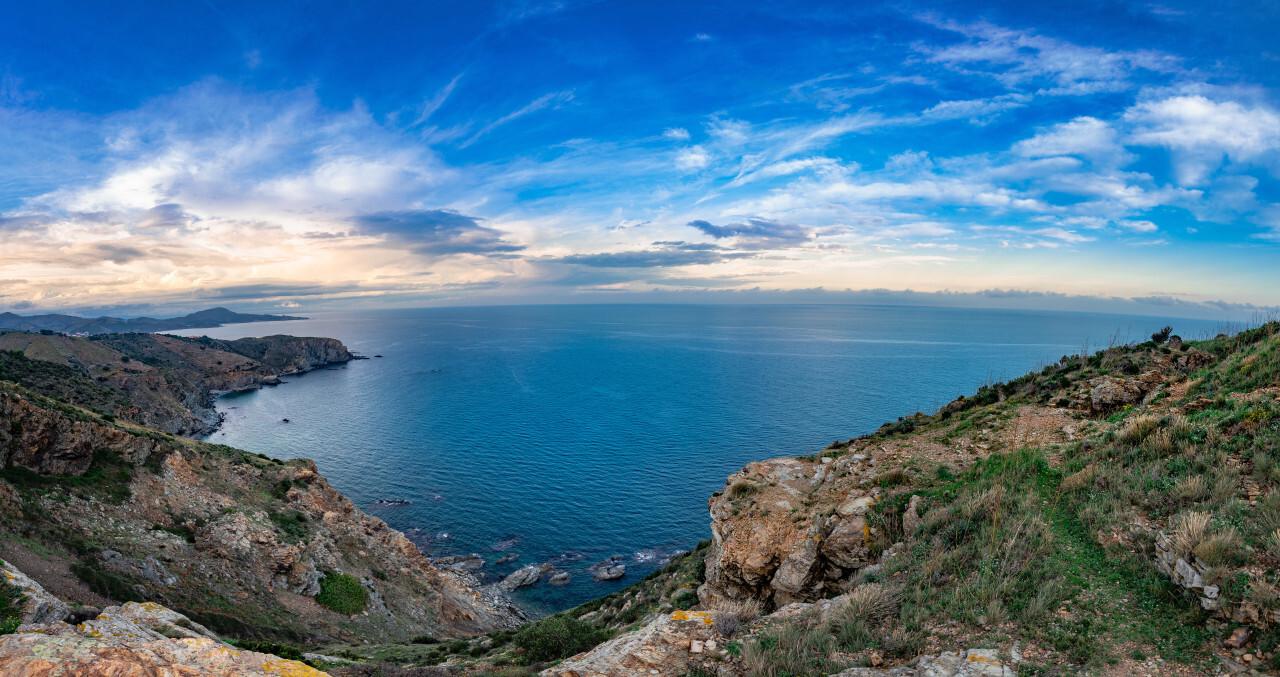 Taula d orientacio Cap de Rederis Seascape Panorama