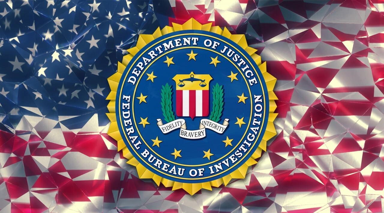 Seal of the United States Federal Bureau of Investigation (FBI) Illustration Flag Background United States of America (USA)