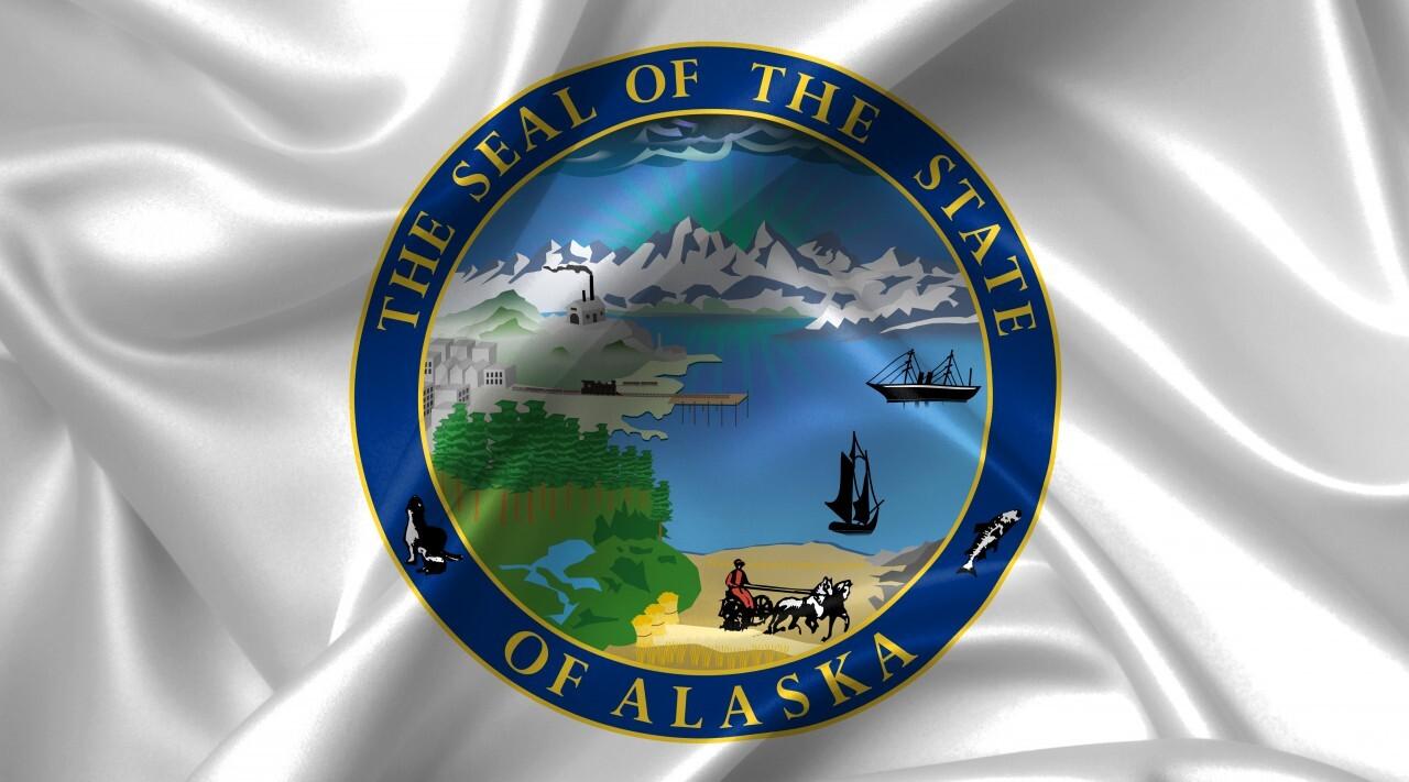alaska seal country symbol illustration