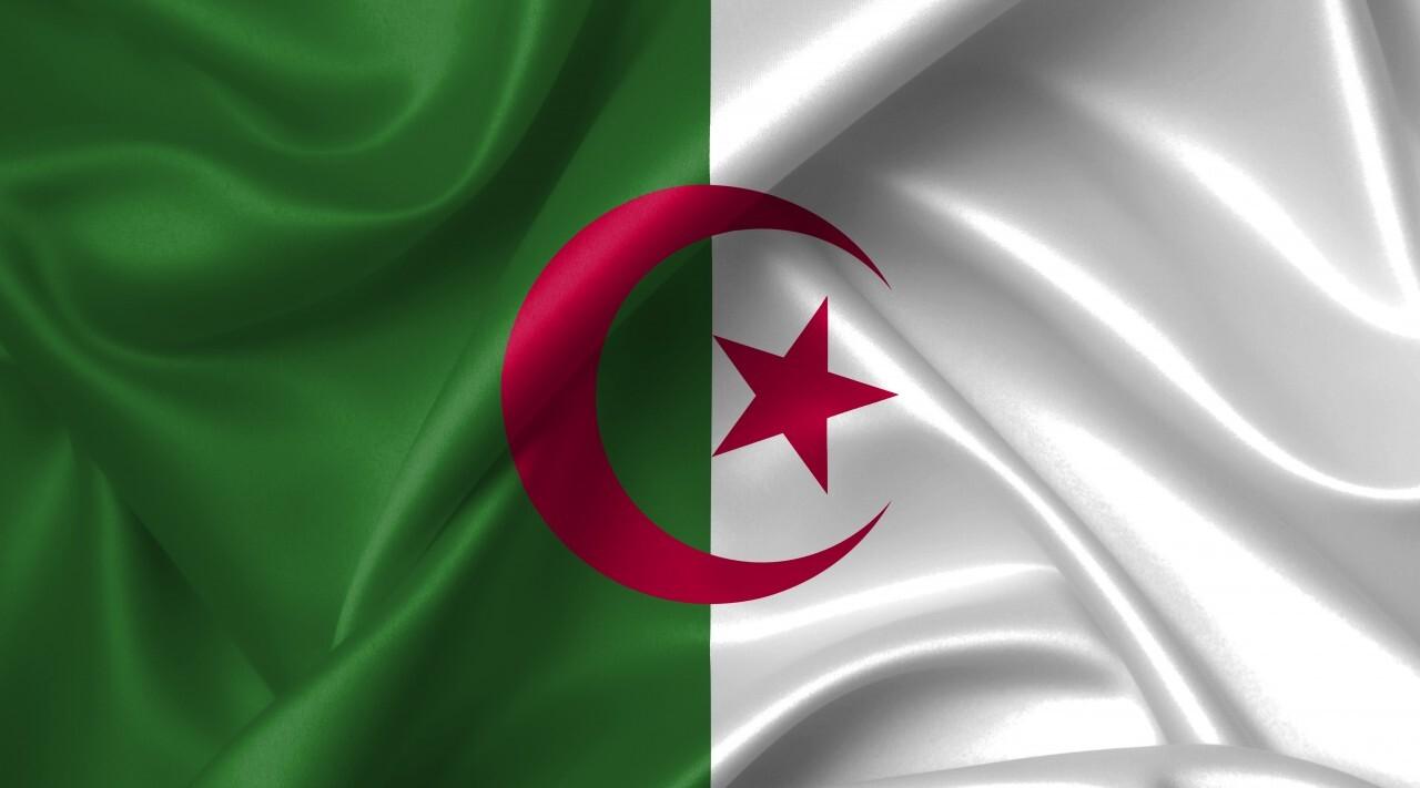 algerian flag country symbol illustration