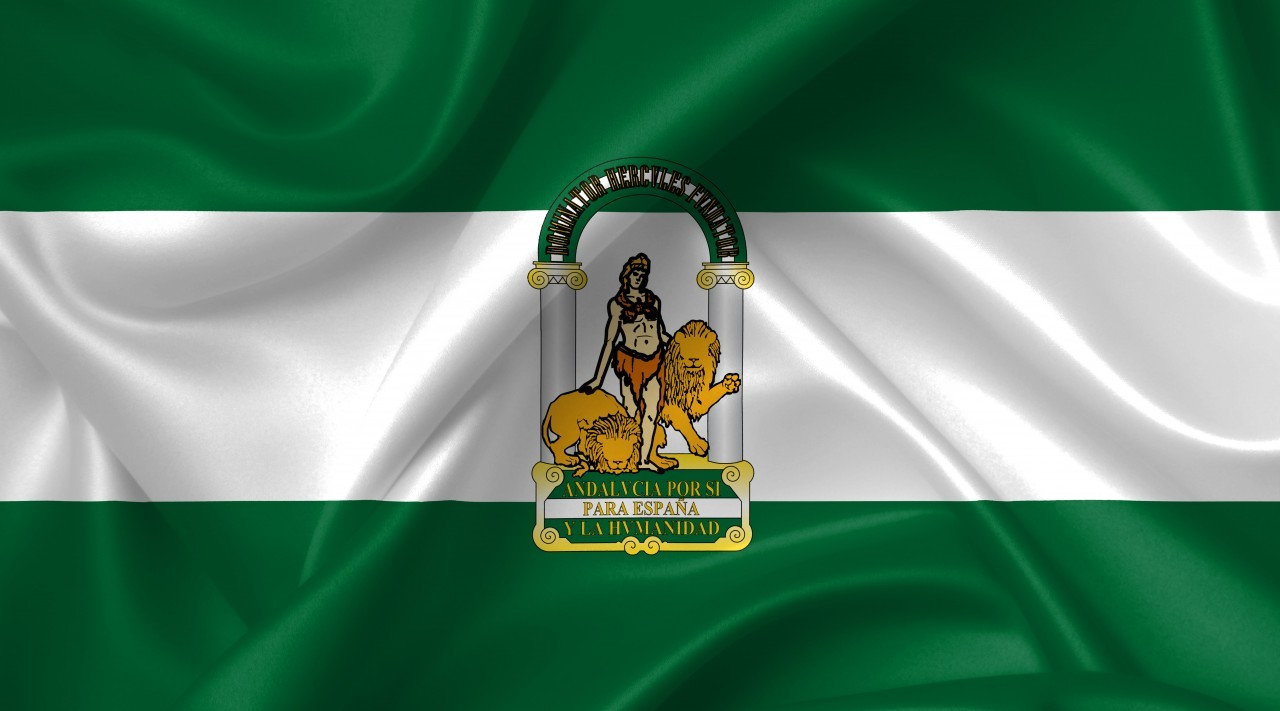 andalucia flag country symbol illustration