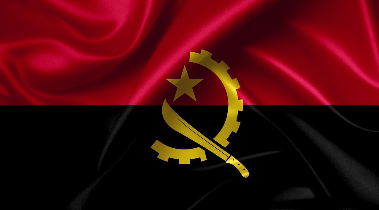 angolan flag country symbol illustration