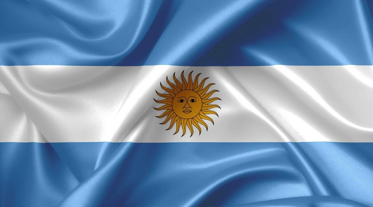 argentinian flag country symbol illustration
