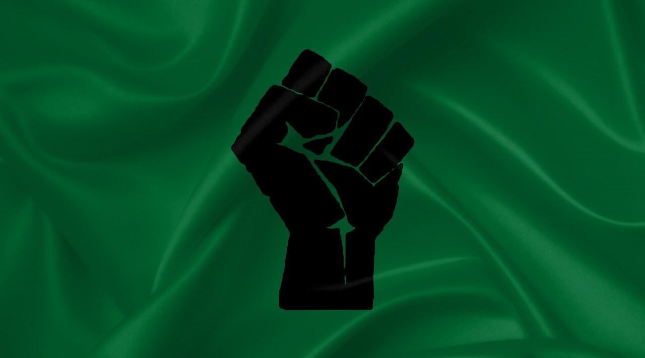 black power fist flag
