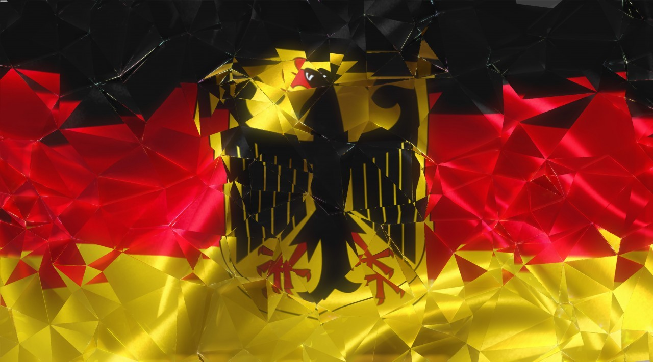 fragmented germany flag