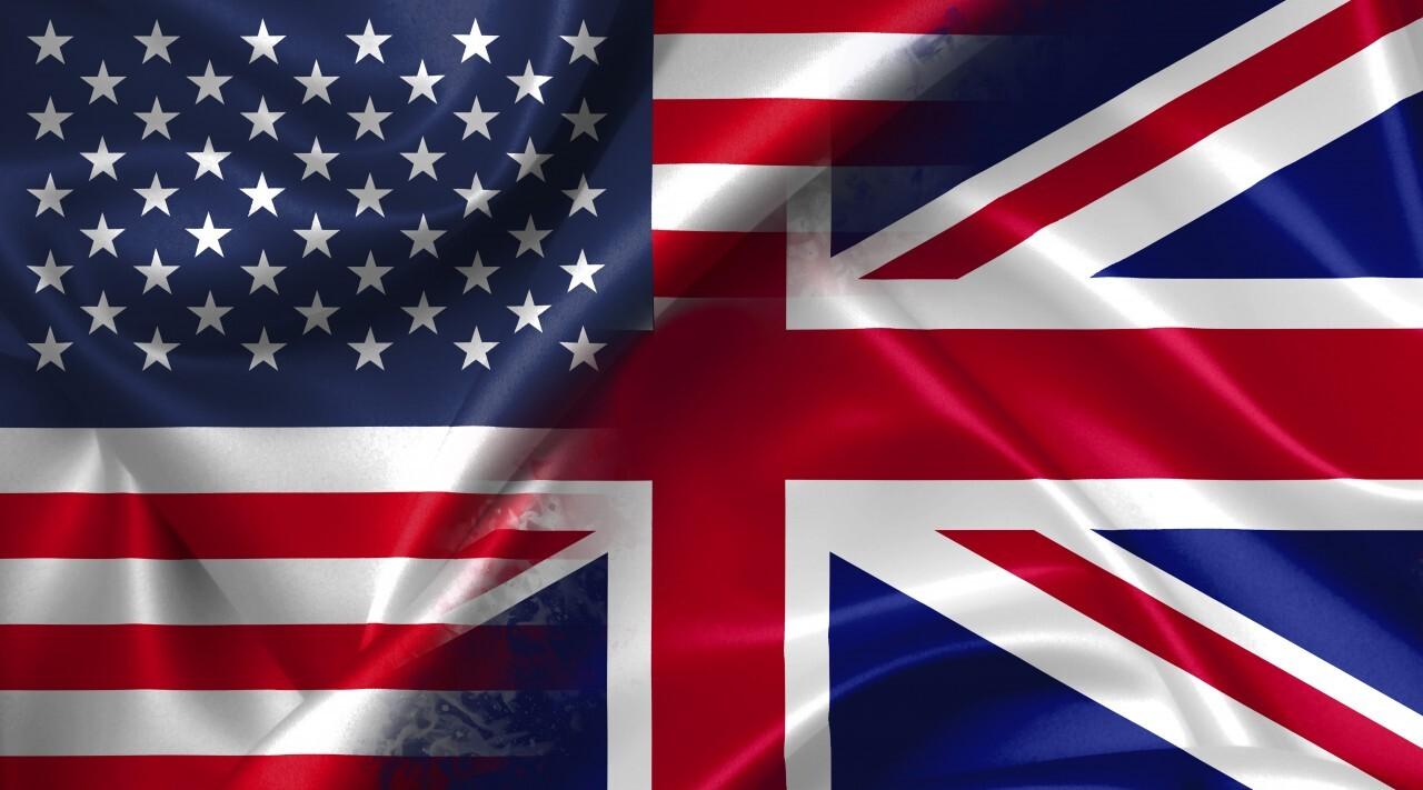 USA vs UK United Kingdom GB Great Britain - conflict war comparison illustration