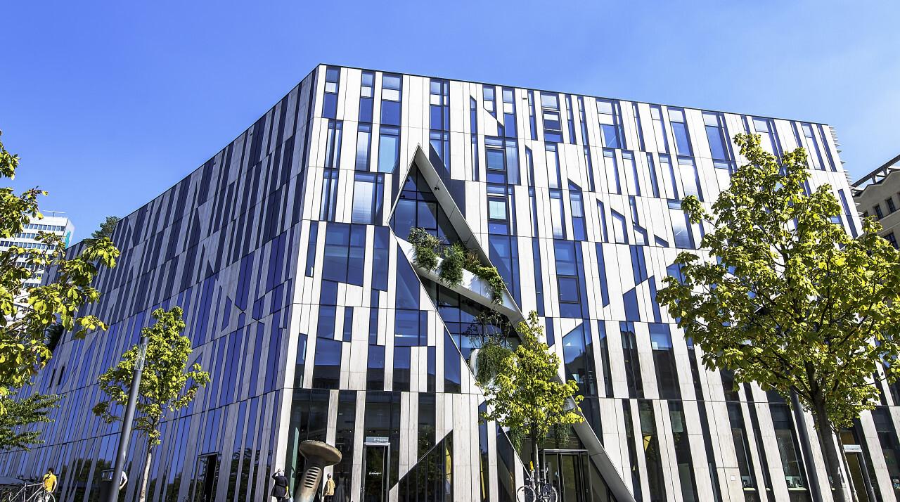 beautiful modern architecture complex