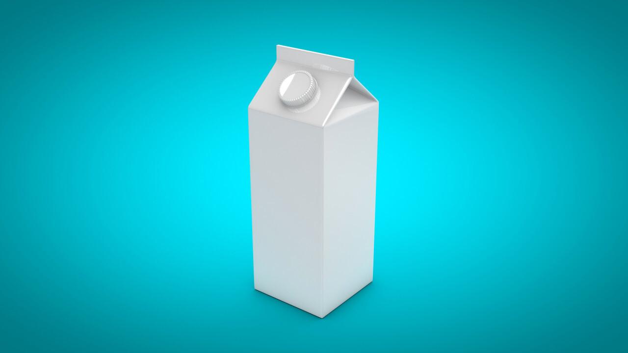 milk carton blank