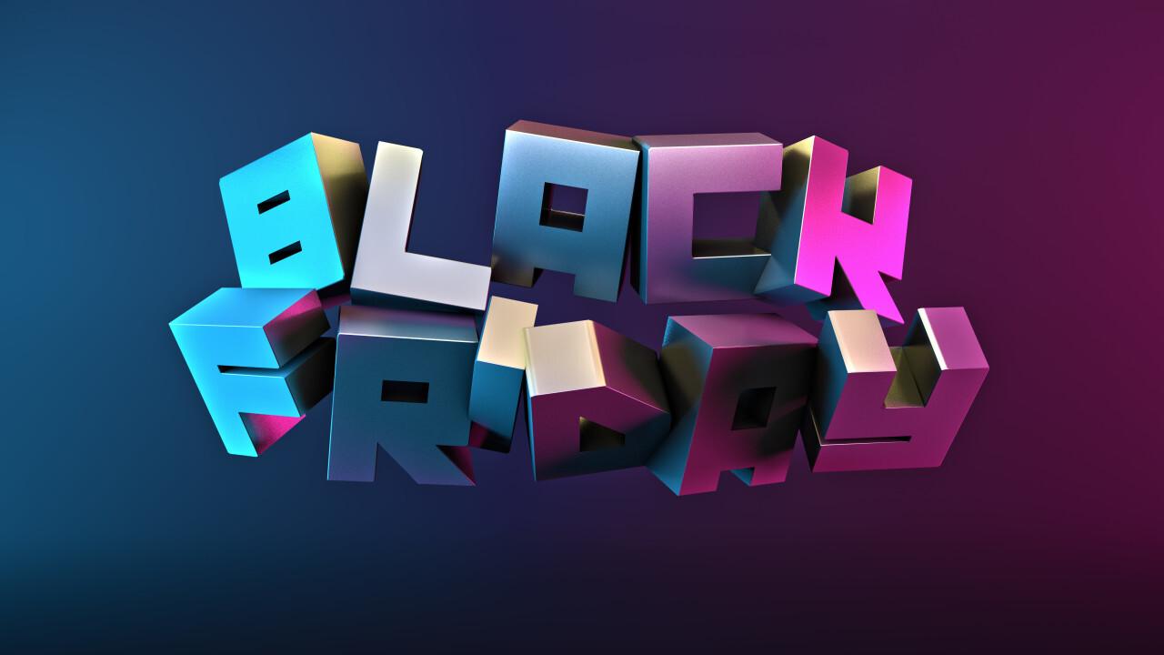 Black Friday Sale Promotional Poster Design 3D illustration
