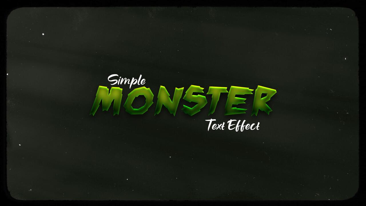 Green Monster PSD Text Effect