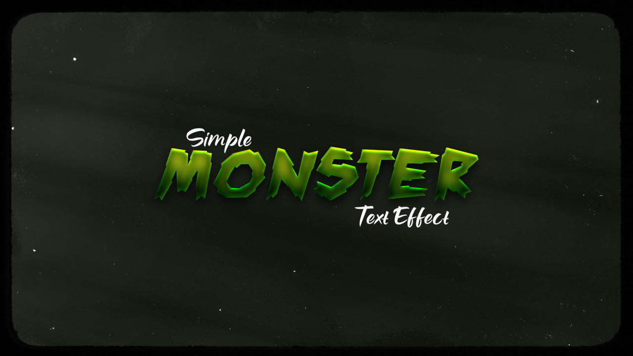 Green Monster PSD Text Effect