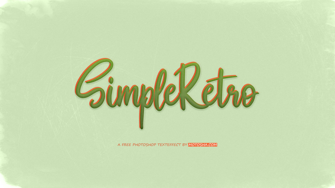Free Simple PSD Retro Text Effect