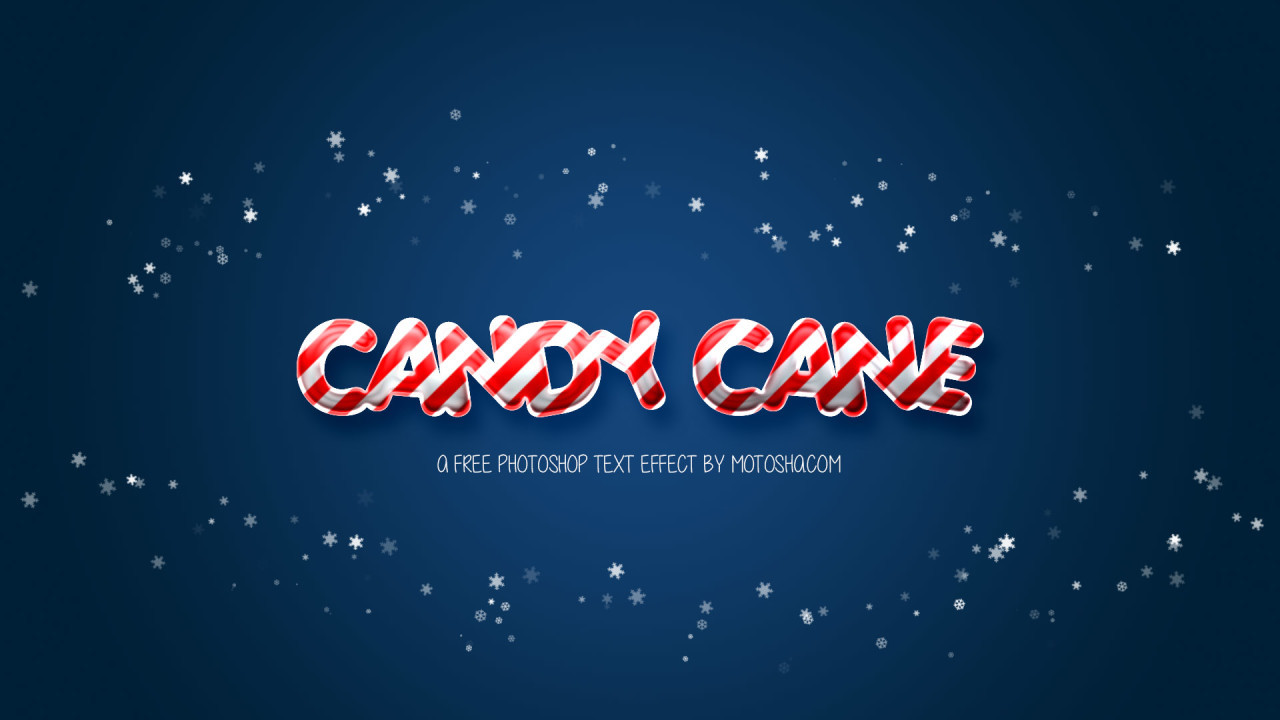 Free Candy Cane Photoshop Text Effect