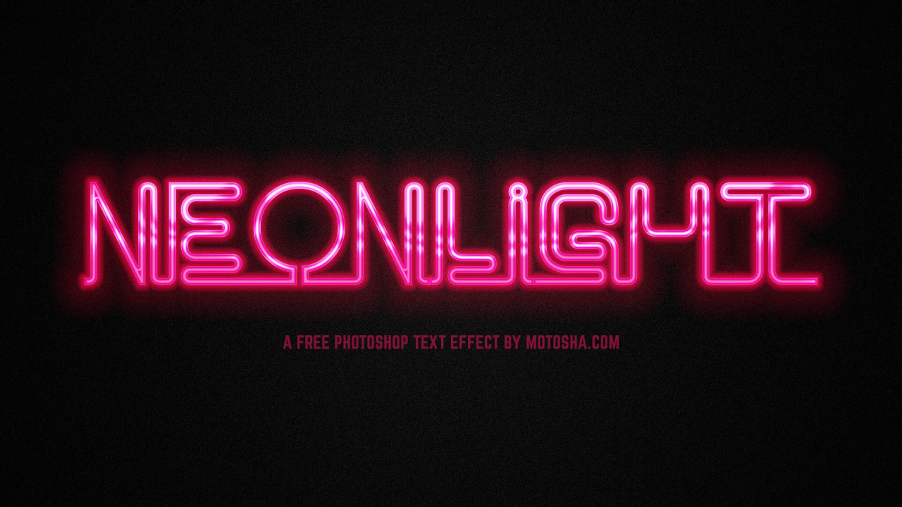 Free PSD Neon Text Effect