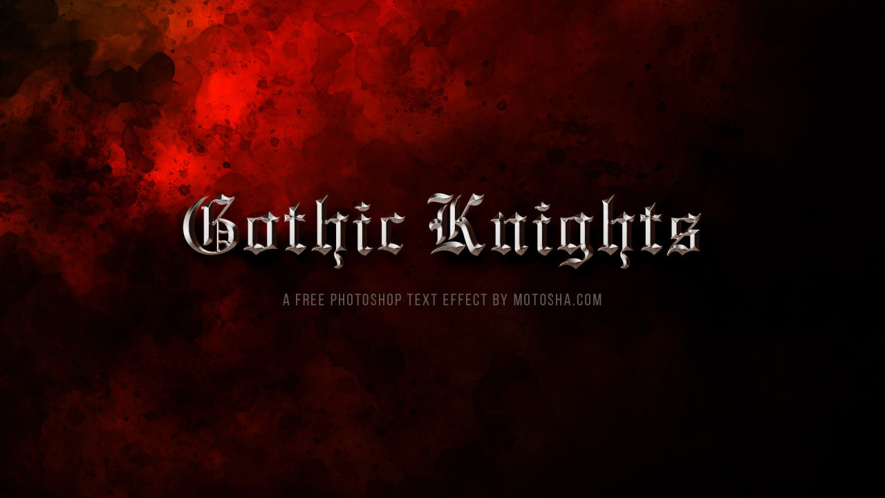 Gothic Knights Free PSD Text Effect