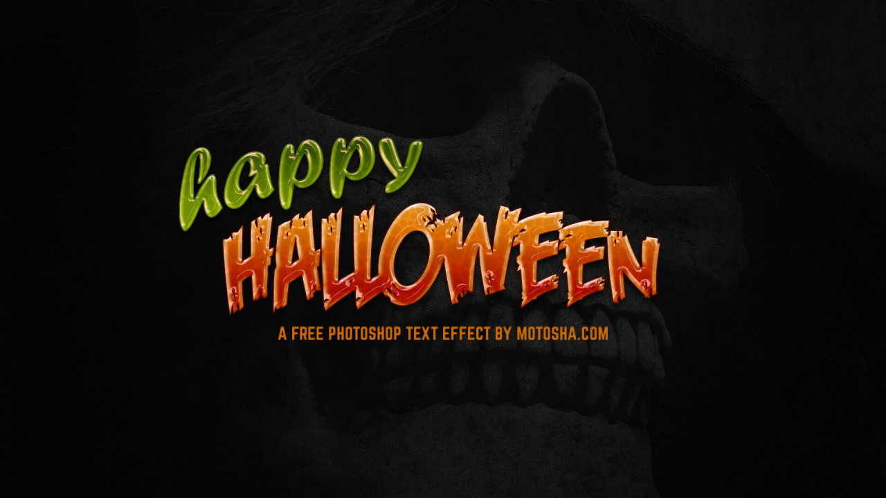 Free Photoshop Halloween Text Effect
