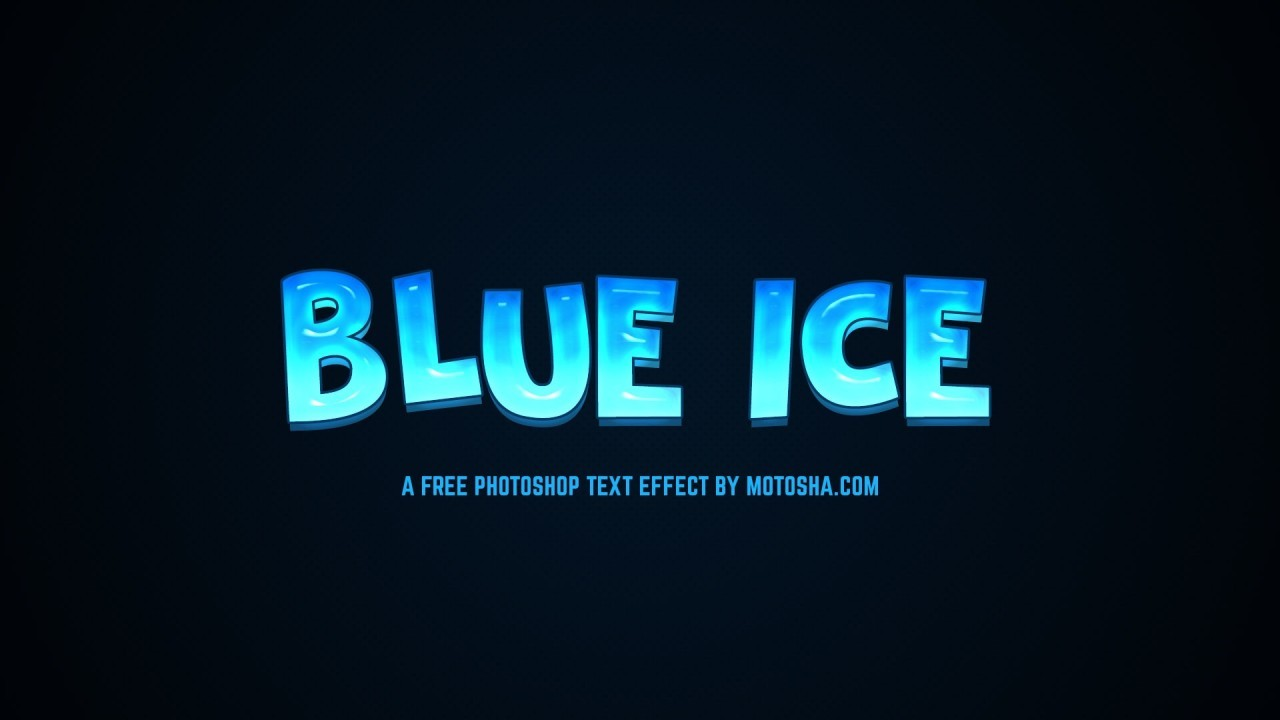 Blue Ice Text Effect for Photoshop