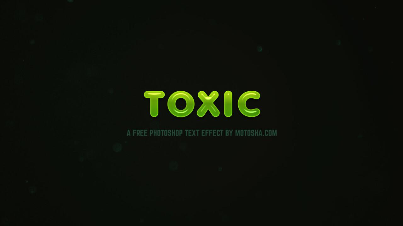 Free Photoshop Toxic Text Effect