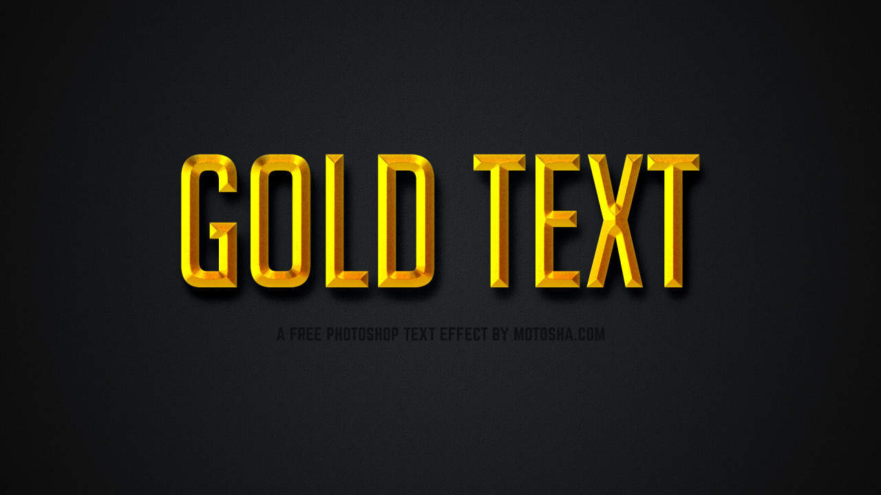 Free Photoshop Gold Text Effect