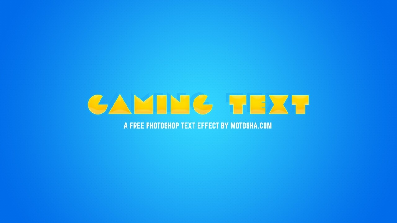 Free Photoshop Gaming Text Effect