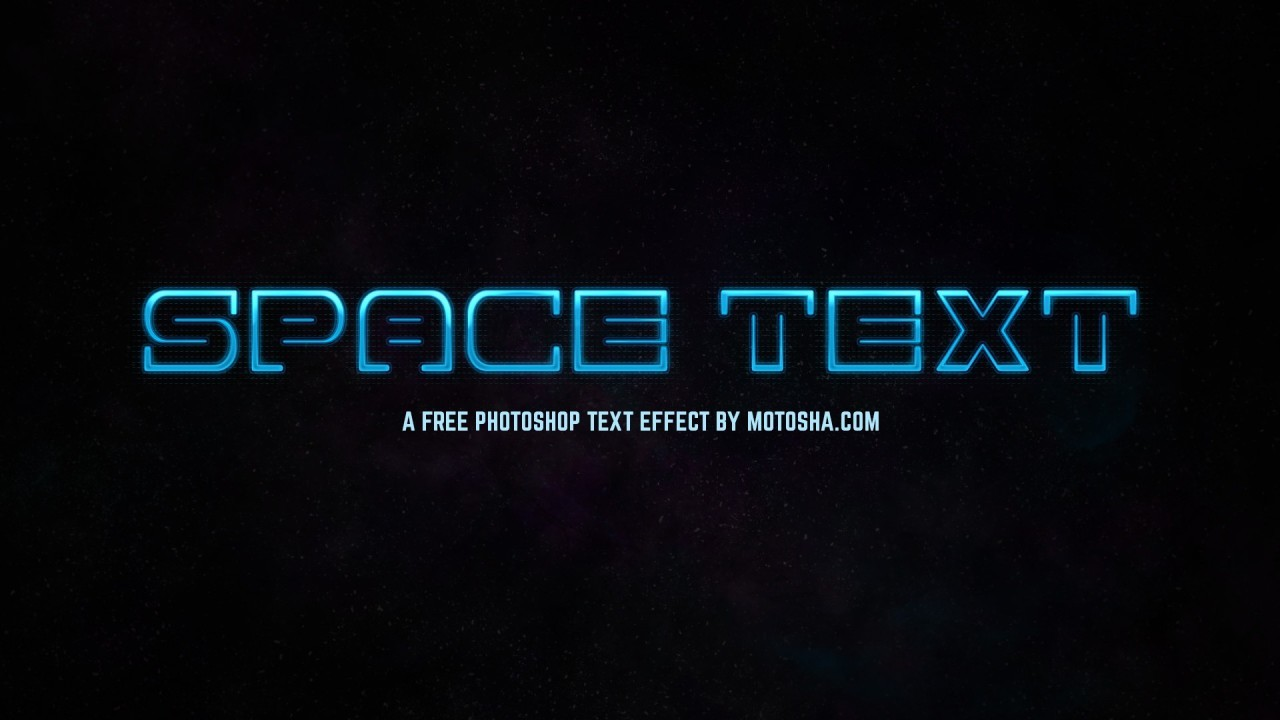 Free Photoshop SciFi Space Text Effect