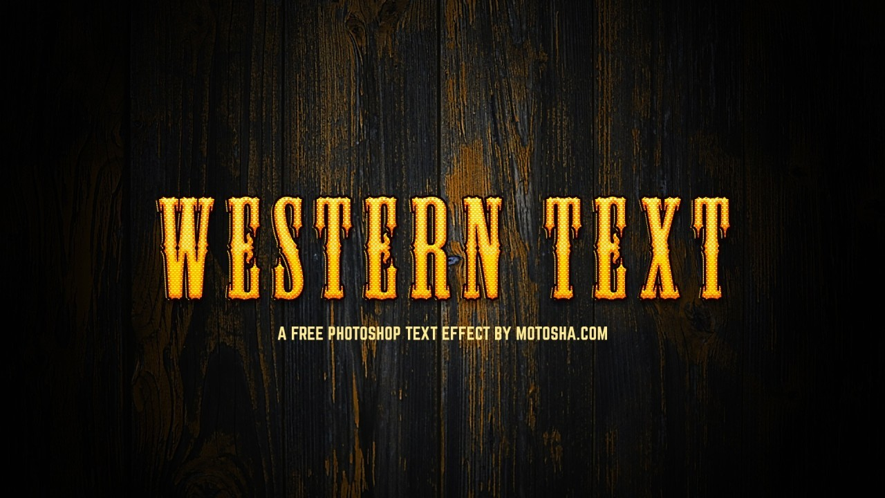 Free Photoshop Western Text Effect