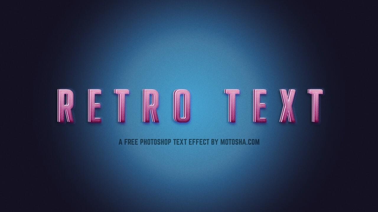 Free Photoshop Retro Text Effect