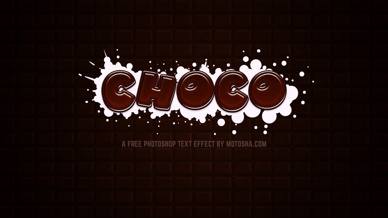 Free Photoshop Chocolate Text Effect