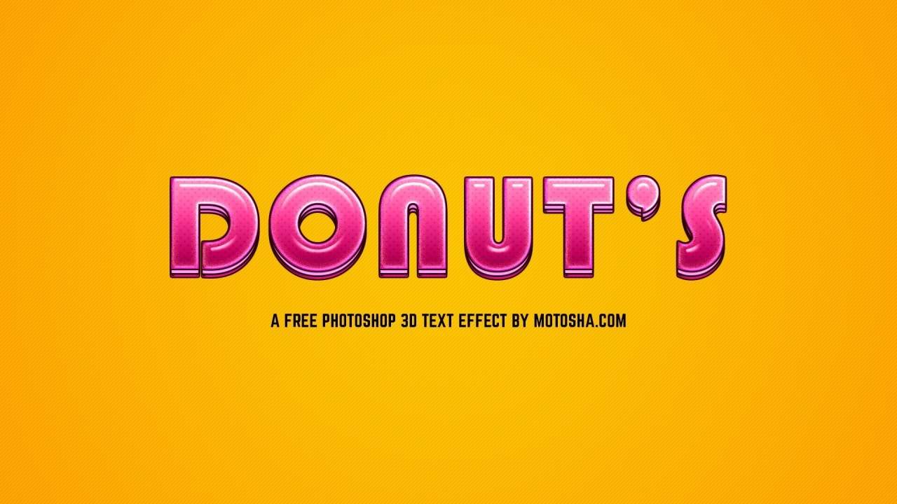 Free Photoshop Candy Donut Text Effect