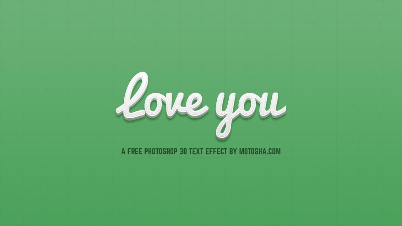 Free Photoshop 3D Text Effect