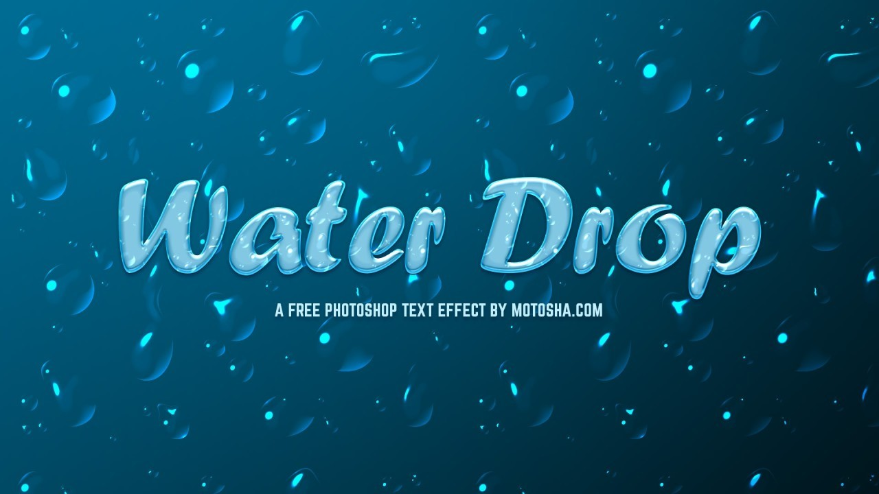 Free Photoshop Text Effect: Waterdrop
