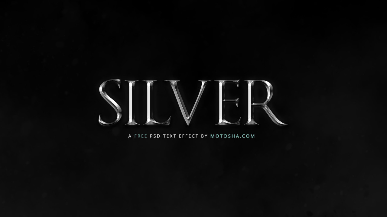 Free PSD Silver Text Effect