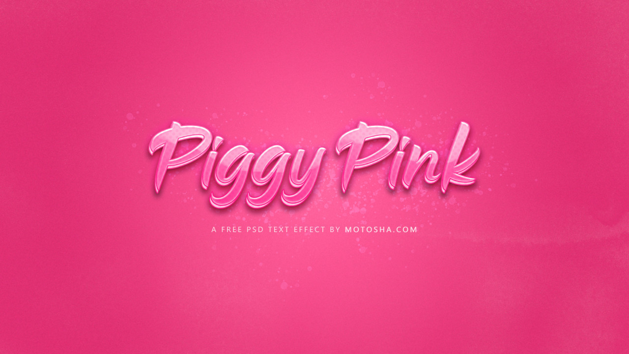 Free Piggy Pink Text Effect for Photoshop