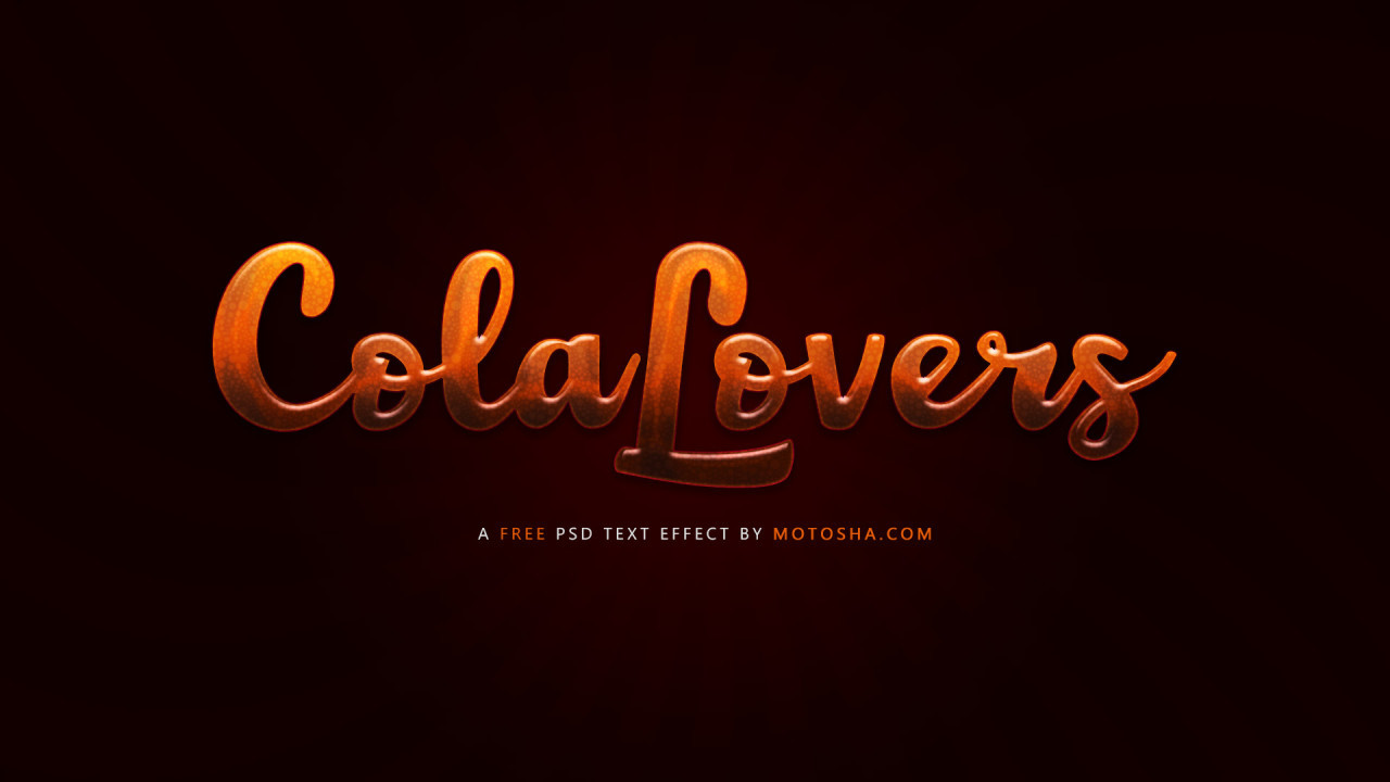 Free Cola Text Effect for Photoshop