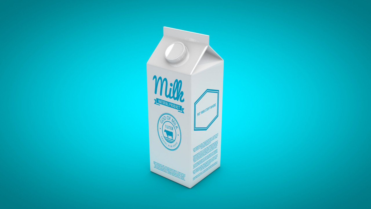 Free Milk Carton Mockup - PSD Photoshop