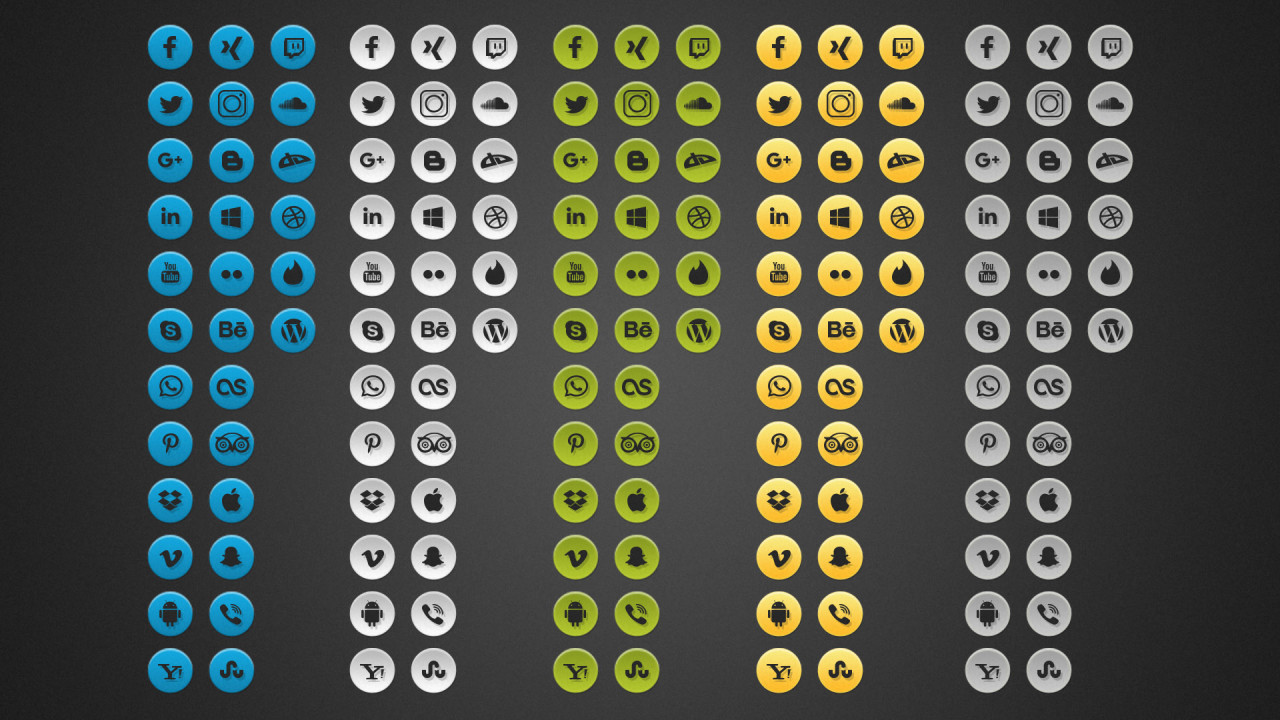 Free Simple Social Media Photoshop Icons