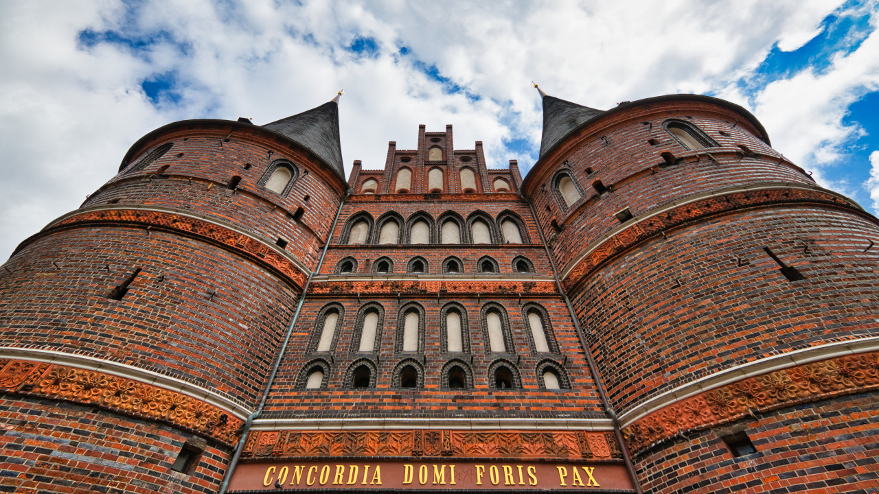 Holsten gate in Lubeck