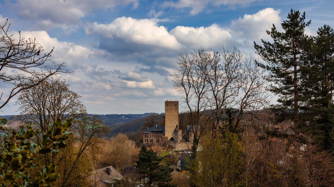 View of castle Blankenstein in Hattingen